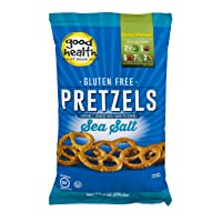 Good Health Gluten Free Pretzels, Sea Salt, 8 oz. Bag, 12 Pack – Gluten Free, Crunchy Pretzels, Great for Lunches or Snacking on the Go