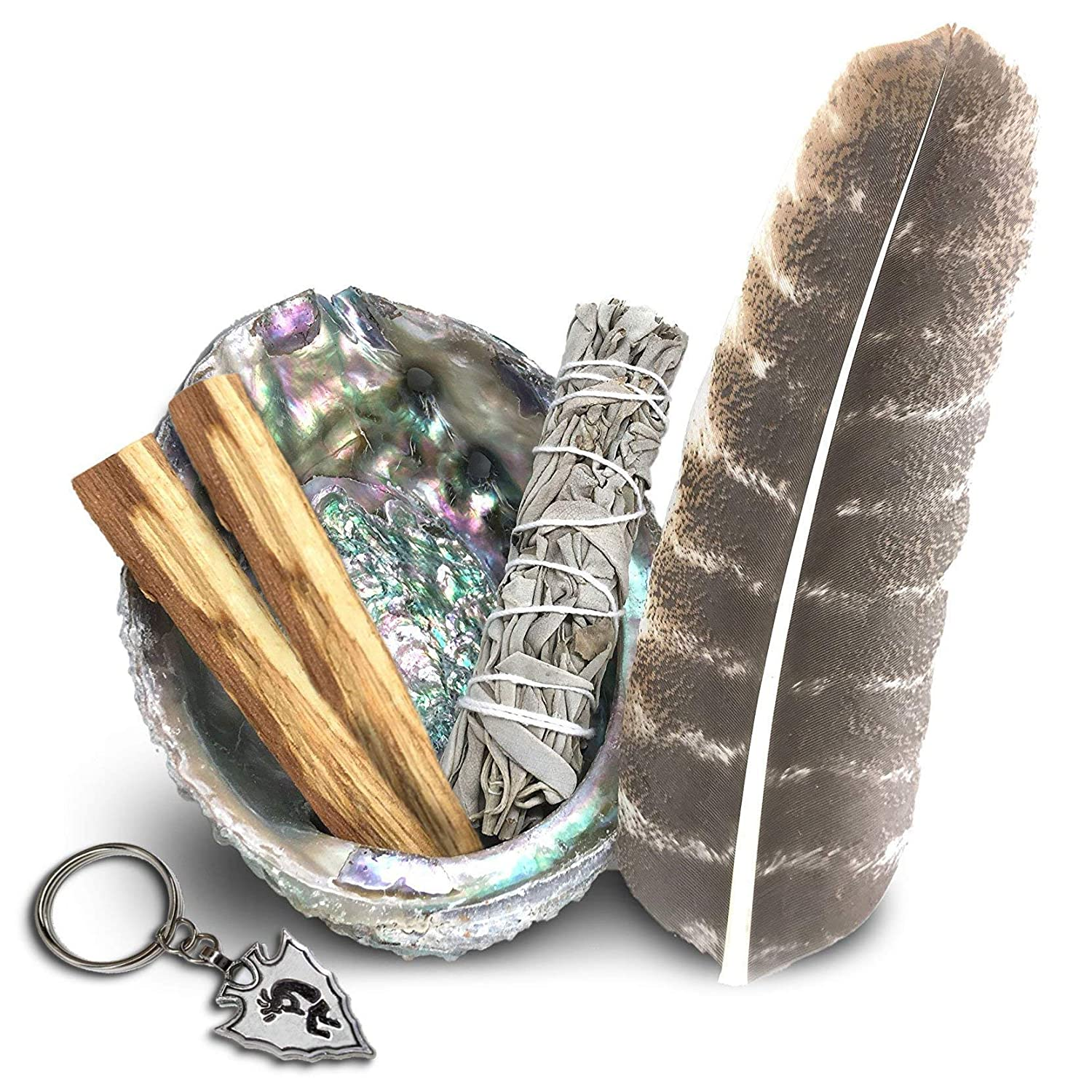 Smudge Kit - Sage, Palo Santo, Abalone Shell, Feather & More! Healing, Purifying, Meditating & Incense JL Local