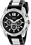 GUESS Men's U0167G1 Sporty Silicone & Metal Silver-Tone Chronograph Watch
