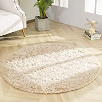 DETUM Soft Round Fluffy Bedroom Rugs for Girls Boys, Fuzzy Circle Area Rug for Nursery Playing Reading Room, Kids Room…