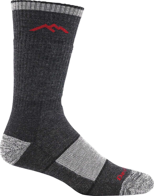 Darn Tough Men's Hiker Book Sock Full Cushion (Style 1405) Merino Wool, Black (Small 5.5-7.5) - 6 Pack