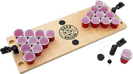 BeerBaller® Shot Pong: El Legendario Juego de Pong de Cerveza en Miniatura! | EL Nuevo Juego DE Beber del 2019! Piezas de Repuesto gratuitas próxima Fiesta!: Amazon.es: Juguetes y juegos