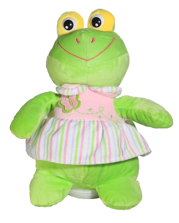Calplush Funny Cuddle 10 Musical Animal Plush with Dress Frog