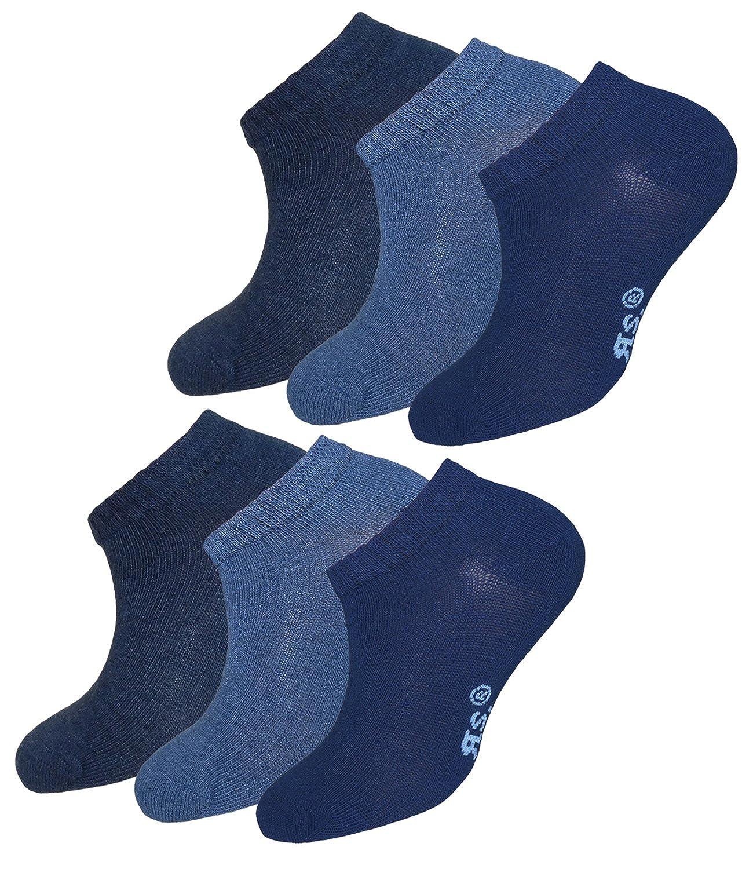 inkl Hutfibel EveryHead Riese 3er oder 6er Pack Jungensneaker Sparpack Sneakers/öckchen Sneaker Kurzstr/ümpfe S/öckchen Classic Blue f/ür Kinder RS-21162-S18-JU2