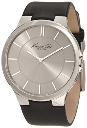 7c45fd260c3 Kenneth Cole New York Men s KC1847 Stainless Steel Watch with Black Leather  Band