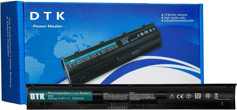 DTK KI04 800049-001 800009-421 TPN-Q159 Laptop Battery for HP Pavilion TPN-Q160 TPN-Q158 TPN-159 TPN-Q161 TPN-Q162 HSTNN-LB6R HSTNN-DB6T HSTNN-LB6S Notebook,[14.8V 2200mAh]
