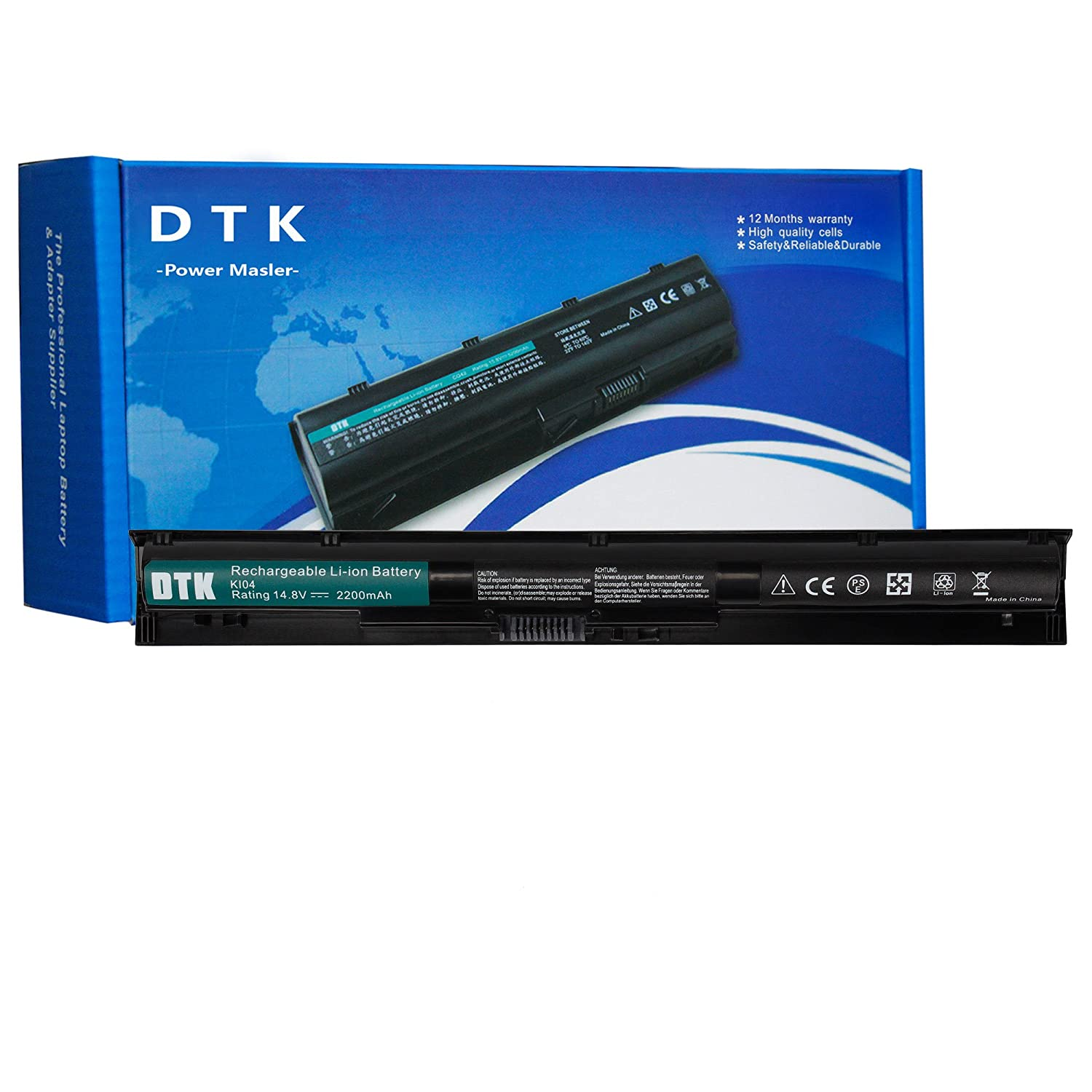 DTK New Laptop Battery Replacement for HP ProBook 440 G2 / 445 G2 / 450 G2 / 455 G2 / HP Envy 14 Series/Envy 15 Series/Envy 17 Series/HP Pavilion 15 17 Series P/N: VI04 [14.8V 2200MAH] DHVI04