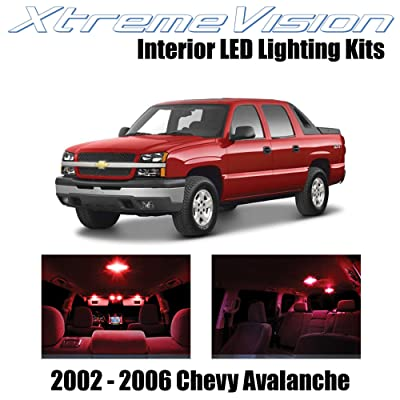 XtremeVision Interior LED for Chevy Avalanche 2002-2006 (16 Pieces) Red Interior LED Kit + Installation Tool: Automotive