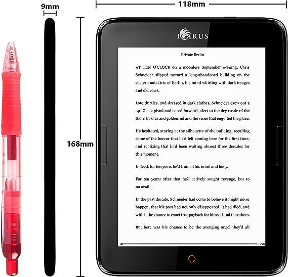 Icarus E654BK lectore de e-Book Pantalla táctil 8 GB WiFi Negro ...