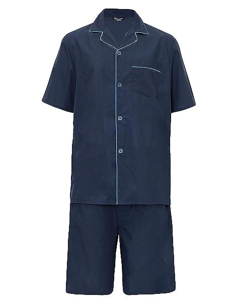 hombre verano Set Pijama Top Manga Corta & Pantalones Cortos: Amazon.es: Ropa y accesorios