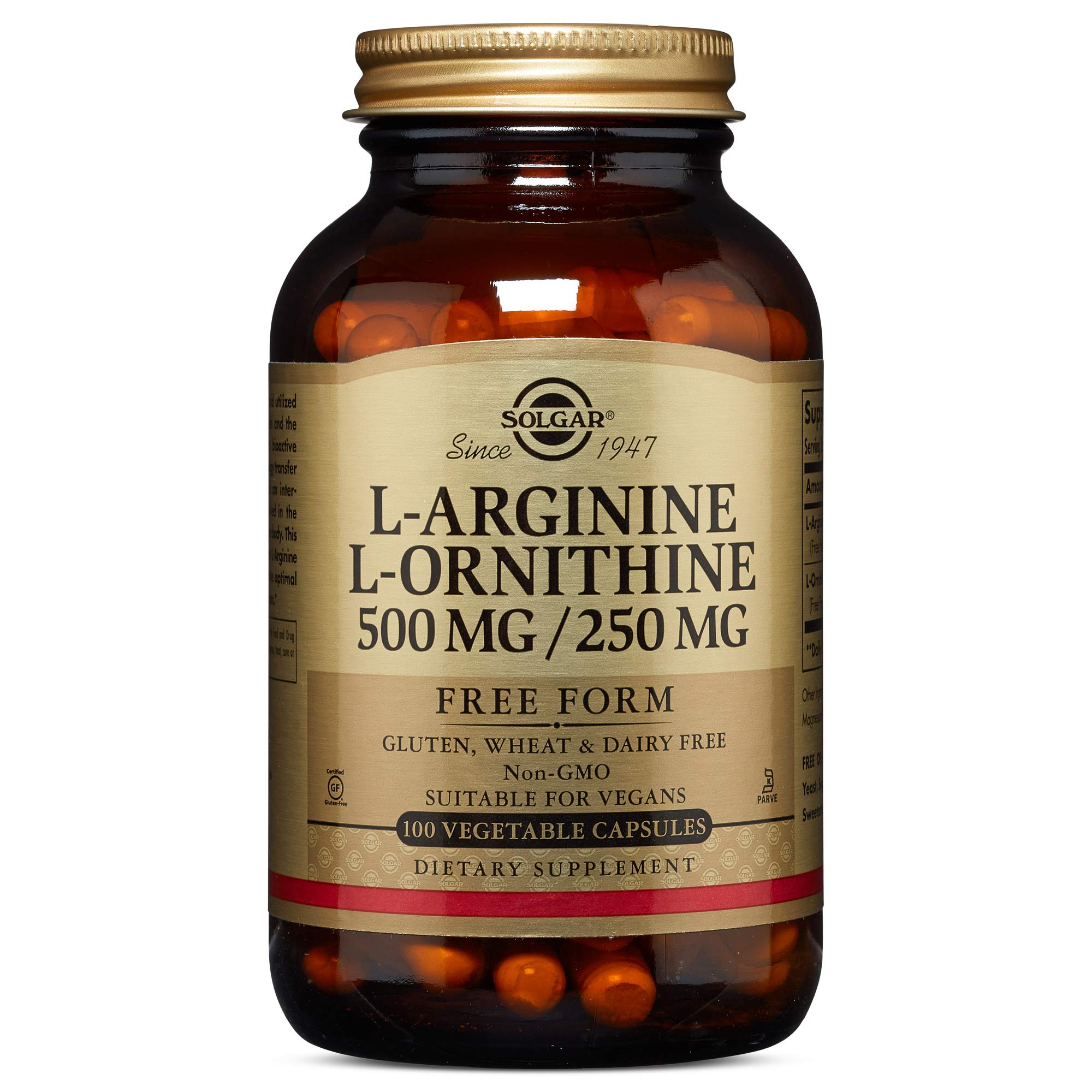 Solgar - L-Arginine/L-Ornithine 500/250 mg, 100 Vegetable Capsules by Solgar