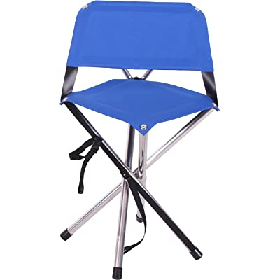 Camp Time Roll-a-Chair, Extra Portable Folding Design, Quality USA Made, Blue seat, Aluminum alloy legs. : Sports & Outdoors