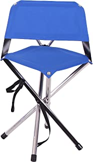 product image for Camp Time Roll-a-Chair, Extra Portable Folding Design, Quality USA Made, Blue seat, Aluminum alloy legs.