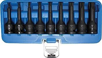 BGS 2546 | perfil en T 3//8 T40 entrada 10 mm Punta de vaso para Torx