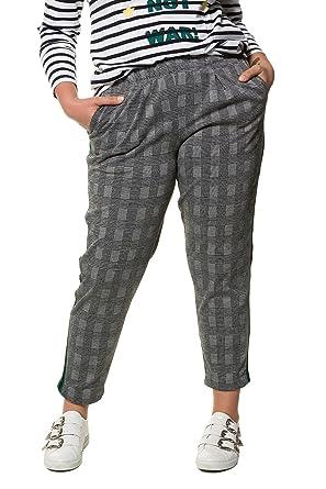 Studio Untold Damen große Größen bis 54   Jerseypants   kariert    Galonstreifen   Elastikbund   a969750f37