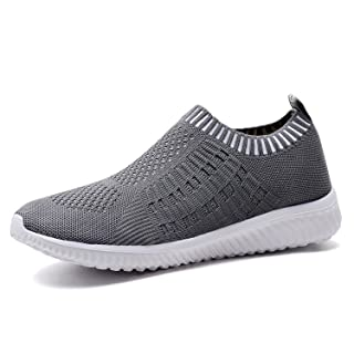 TIOSEBON Women's Athletic Walking Shoes Casual Mesh-Comfortable Work Sneakers 13 US Deep Gray