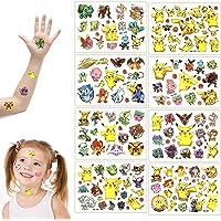 GUBOOM Tattoo Kids, 8 Vellen Pokemon Kids Tattoos Set, Waterproof Kids Tattoos Pokemon, Huidvriendelijke Kids Tattoos…