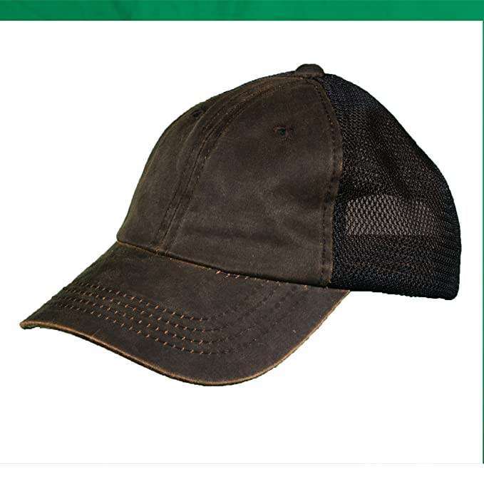 low priced 48745 40d86 Dorfman Pacific Co. Men s Mesh Back Weathered Cotton Cap, Brown, One Size