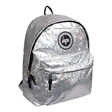 0e98dcc7effd Hype Silver Backpack   Rucksack Bag - Glitter Snake  Amazon.co.uk  Shoes    Bags