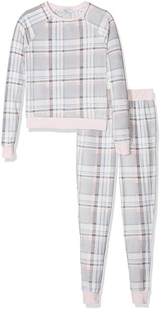 New Look Twosie Check Set, Conjuntos de Pijama para Niñas, Gris (Grey Pattern