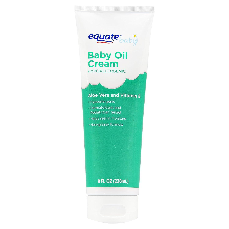 Equate Aloe Vera & Vitamin E Baby Oil Cream Hypoallergenic 8 oz (Pack of 2) Walmart