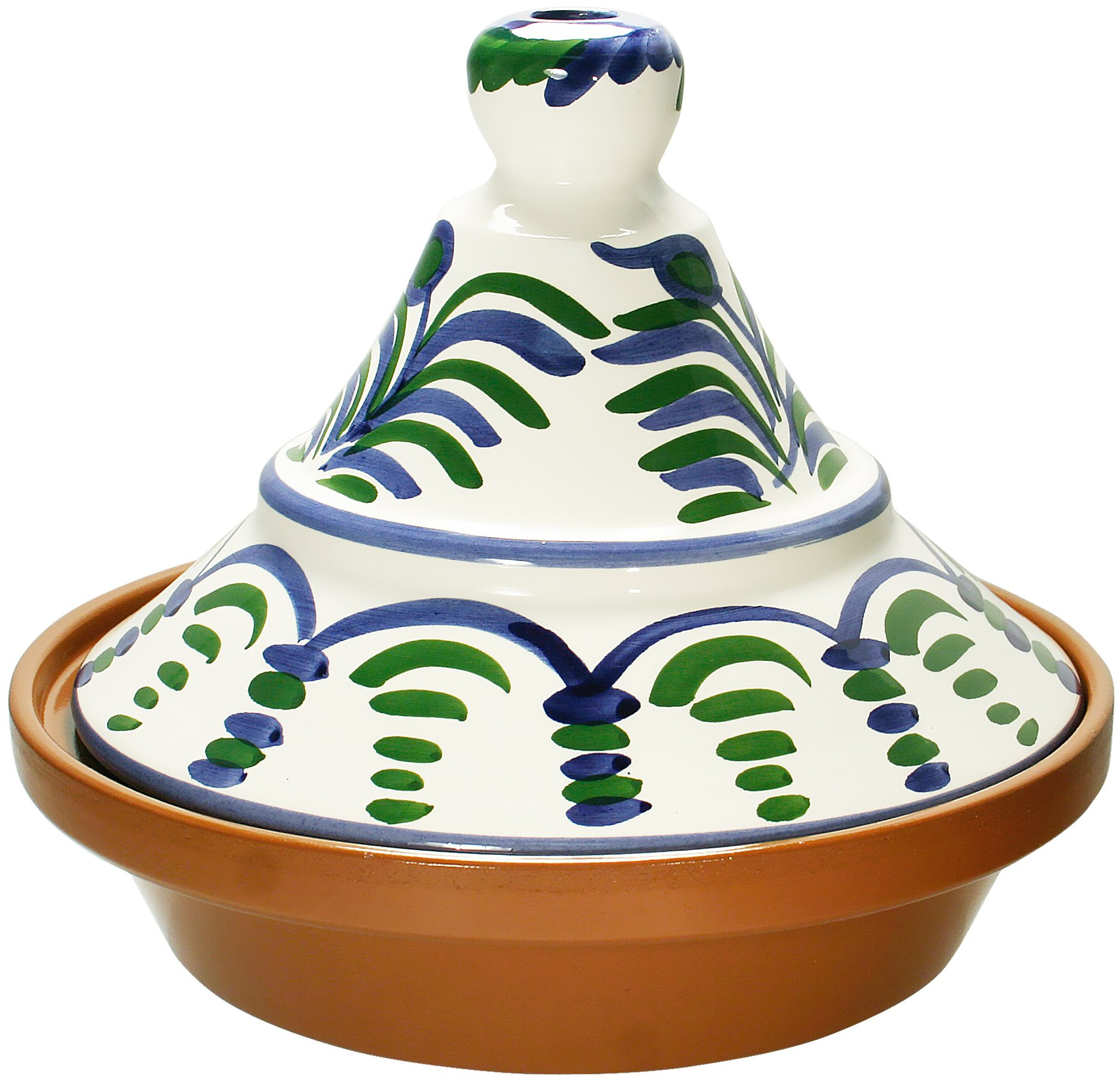 Reston Lloyd Hand Painted Natural Terra Cotta Tagine, 2-Quart, Malaga by Reston Lloyd (Image #1)