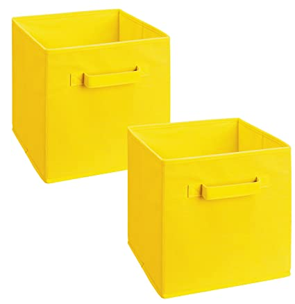 Wonderful ClosetMaid 18711 Cubeicals Fabric Drawer, Yellow, 2 Pack