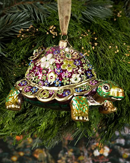 Amazon Com Jay Strongwater Jubilee Mille Fiori Turtle From Great