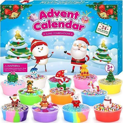 Christmas Calendar Countdown 2020 Amazon.com: ELOVER Slime Advent Calendar 2020 Countdown to