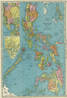 Amazon map poster philippines 24x165 posters prints map poster philippines gumiabroncs Images