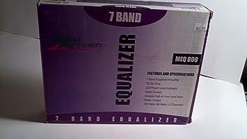 MOBILE AUTHORITY MEQ-800 100 Watt 7-Band Audio Equalizer