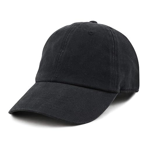 c4099879ec37a THE HAT DEPOT Plain Brushed Soft 100% Cotton Unstructured Low Profile Dad  Hat (Black