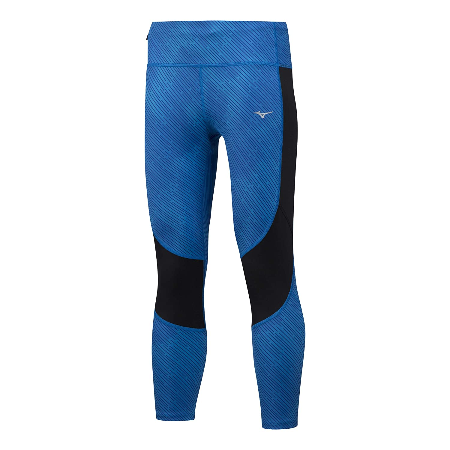 Mizuno Damen Impulse 3/4 Printed Tight Laufbekleidung Tight Blau - Schwarz Xs