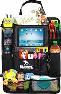 car backseat organizer with tablet holder for kids and toddlers by dmoose 24 inch