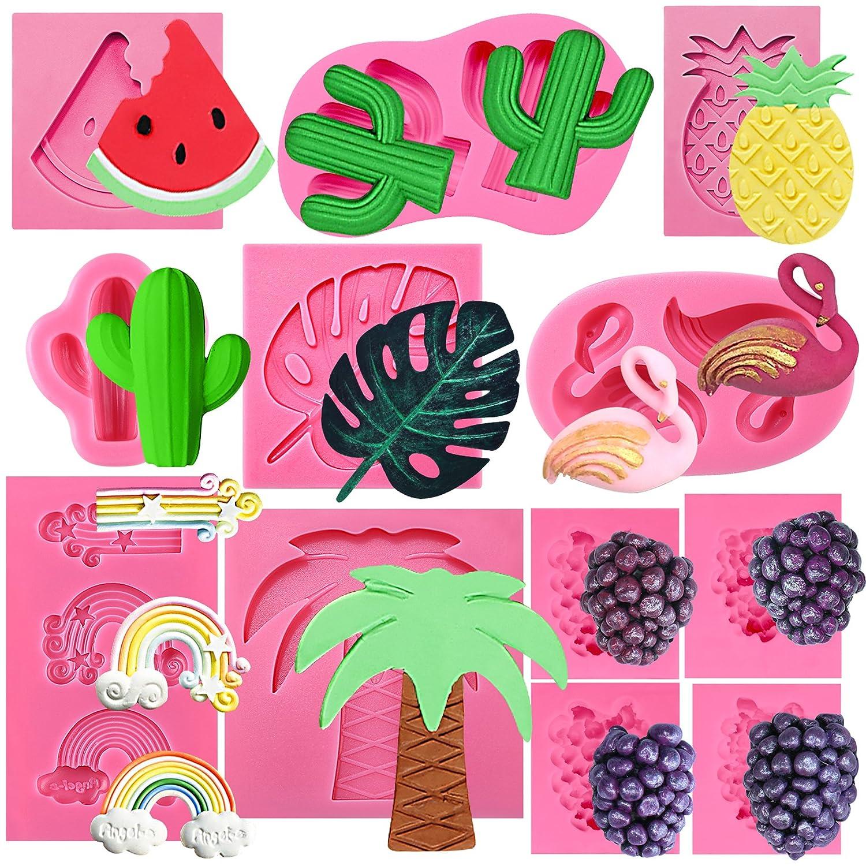 musykrafties Beach Holiday Fondant Moule en Silicone pour d/écoration de Cupcakes Argile Artisanales