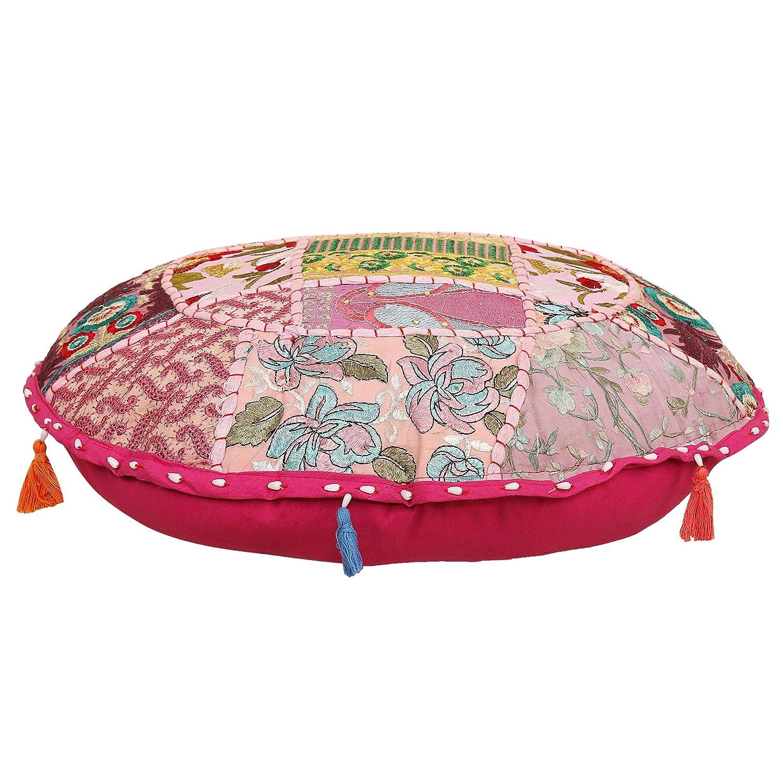 Funda de almohada de algodón étnico indio bordado vintage de ...