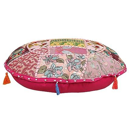 Funda de almohada de algodón étnico indio para suelo, estilo ...