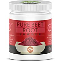 100% Pure Beet Root Powder (1 Lb) 16 Oz, Raw & Non-GMO,High Betalains and Inorganic Nitrate,Organically grown in…