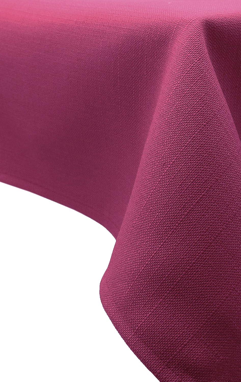 ZOLLNER® Mantel/Mantel Rectangular Antimanchas resinado, Color Frambuesa, Medidas 140x220 cm, Medidas, del especialista en Textiles para hostelería, ...