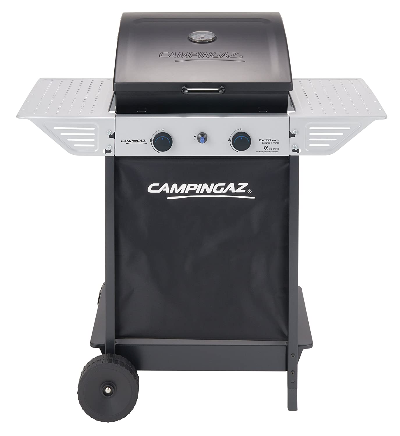 Campingaz 2 Series Classic Xpert 100 L Plus Rocky Barbecue Trolley natural gas 7100 W Black, Silver 3000004826