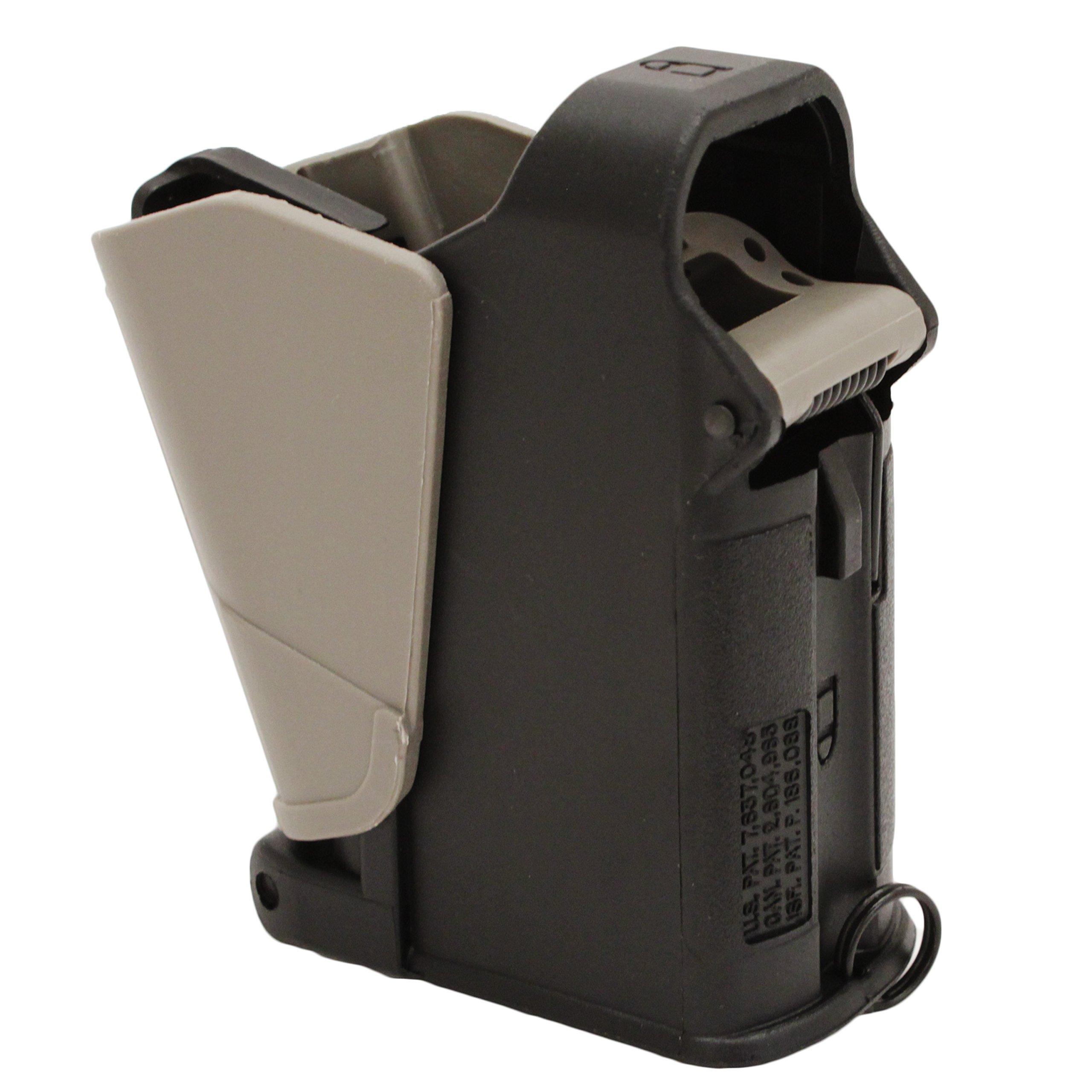 Maglula 22UpLULA Converted Pistol Mag Loader Description - UP62B - Black - Made For Loading .22LR Wide Body Mags by Magula