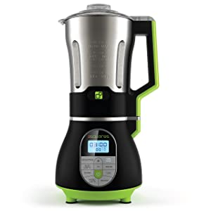 3 Squares SOUP3RB Cook + Blend Blender with Built-In Heating Element Stainless Steel Pitcher, 7 Cup/60 oz, Black
