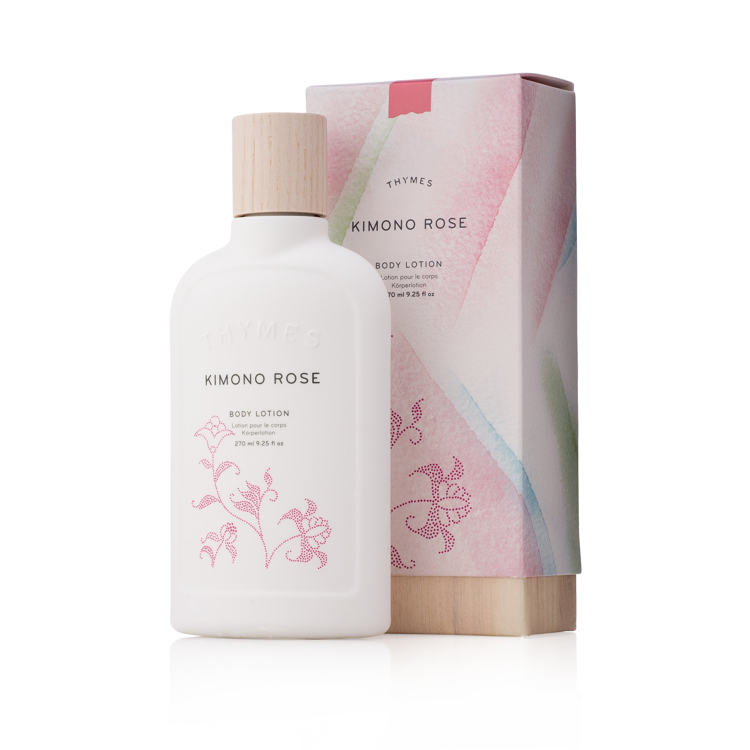 Thymes - Kimono Rose Body Lotion - Moisturizing with Soft Vanilla Rose Scent - 9.25 oz by Thymes