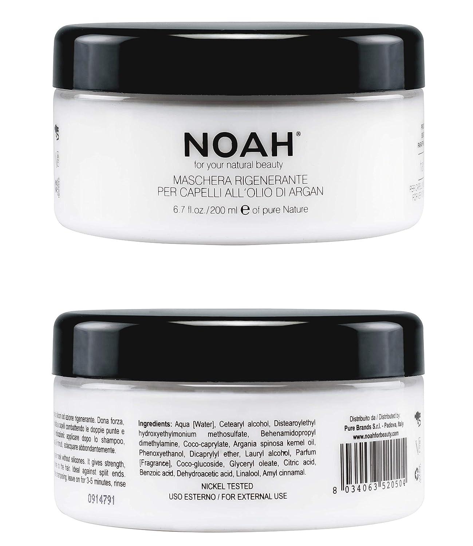 NOAH Hair Mask for Hair Growth and Hair Regeneration - Argan Oil Mask for  Dry Damaged