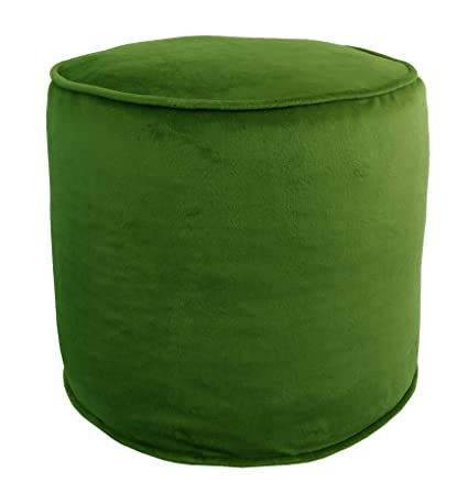 Awesome Metje 0818Ot Green Majestic Cylinder Pouf Ottoman Green 17 Cylinder Lamtechconsult Wood Chair Design Ideas Lamtechconsultcom
