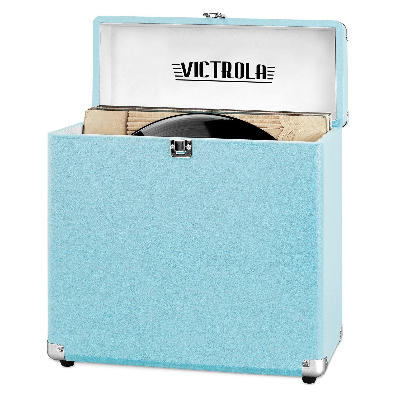 Victrola Vintage Vinyl Record Storage Carrying Case For 30