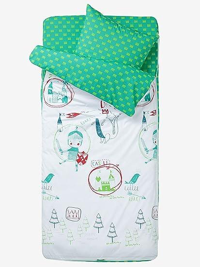 VERTBAUDET Saco de dormir Caballero Blanco/Verde 89