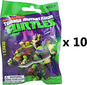 T.M.N.T Teenage Mutant Ninja Turtles Mini Keychain Figures Mystery Blind Party Bag Pack of 10