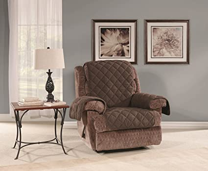 Sure Fit SF44975 Microfleece Recliner Pet Furniture Cover, Chocolate