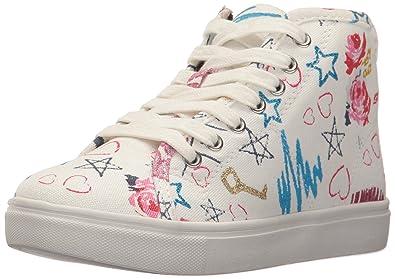 d1b105f967ba5a Steve Madden Girls  JSCRIBBLE Sneaker White Multi 3 M US Little Kid